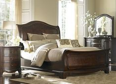 Our Highland Park 9-pc queen bedding ensemble makes a grand statement when featured on the Sutton Place queen bed from .