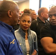 Janet & Randy, with Houston Mayor Sylvester Turner visiting the Convention Center in Houston. Randy Jackson, Jackson Family, Michael Jackson, The Jacksons, Convention Centre, Divas, Houston, Scene, Jackson