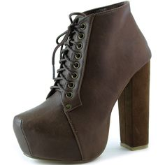 Save 10% + Free Shipping Offer *   Coupon Code: Pinterest10 Material: Man Made Velvet Material. 5.25 inches, 1.75 inch Platform True to size, Super Star Lady Gaga Styles Product Code: Peron-01 Brown color Women's Modesta Peron-01 Brown Soft Leatherette lace up ankle booties