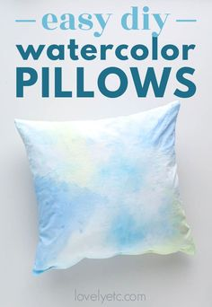 Painting fabric is a fun way to create beautiful pillow covers in any colors you want. Even better, the fabric stays soft and washable even after painting!