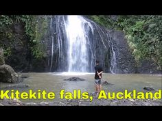 Kitekite falls, Auckland On Good Friday, we went to Piha beach, Piha beach is a popular place in the west Auckland. It was cloudy, we walked along the stream. Auckland, Niagara Falls, New Zealand, Waterfall, City, Beach, Places, Travelling, Outdoor