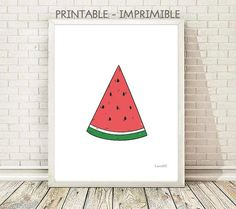 cuadro sandia,  ilustracion sandia, cuadro sandia, lamina frutas, cuadro frutas, laminas A4, laminas A3, laminas imprimibles
