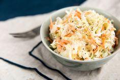 Coleslaw (use homemade mayo for Cabbage Salad Recipes, Slaw Recipes, Vegan Recipes, Carolina Coleslaw Recipe, Vegan Coleslaw, Coleslaw Salad, Organic Recipes, Ethnic Recipes, Cole Slaw
