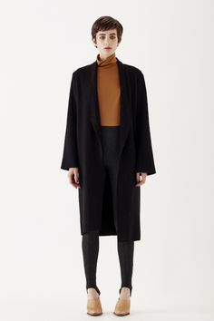 Designed to live in. Relaxed fit / Slightly off the shoulder / Full sleeve designed to be rolled / Fold back shawl collar / Hits below the knee / Unlined / Raw edges Made in New Zealand Full Sleeves Design, Classic Chic, Sleeve Designs, Off The Shoulder, Duster Coat, Normcore, How To Make, Jackets, Clothes