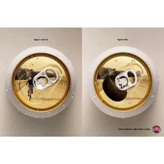 'You see the picture.' - 'Now you don't.'  Fiat - don't drink and drive campaign.
