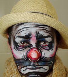 Love this hobo clown Joker Clown, Gruseliger Clown, Es Der Clown, Clown Faces, Circus Clown, Creepy Clown, Sad Faces, Clown Makeup, Halloween Makeup