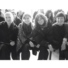 .@Vogue Paris | Four Vogue Editors-in-Chief sitting front row at @Calvin Klein with Christiane... | Webstagram