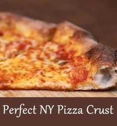 New York Pizza Crust: This is a great, sweet New York-style pizza dough that has a perfect chew. It can be cooked in a high temp brick oven or in a low temp home oven and turn out beautifully either way. Pizza The Best New York Style Pizza Dough Ny Style Pizza Dough Recipe, Ny Pizza Sauce Recipe, Best New York Pizza Dough Recipe, Brooklyn Pizza Dough Recipe, Rustic Pizza Crust Recipe, Sbarro Pizza Recipe, Home Made Pizza Crust, Alton Brown Pizza Dough, Snacks