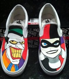 Vans fan .@SoyEinovioDe shows off a rad pair of Customs. Joker and Harley. Very trixie.