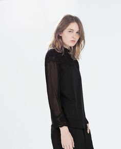 Image 2 of LACE BLOUSE from Zara
