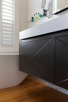 Von Sturmer - Simple cabinetry detailing Bathroom Designs, Vanity, Simple, Vanity Area, Lowboy, Dressing Tables, Single Vanities, Bath Design, Vanity Bench
