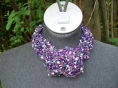 Hey, I found this really awesome Etsy listing at https://www.etsy.com/listing/189435184/purple-trellis-yarn-scarf