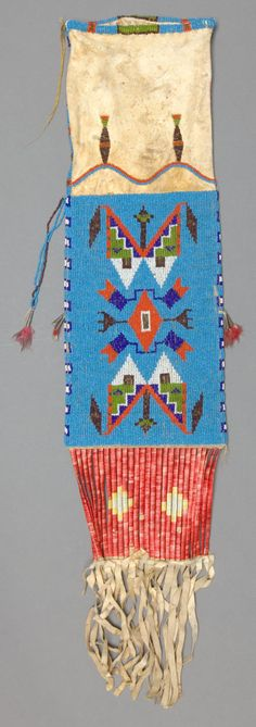 Sioux Beaded Hide Tobacco Bag c. 1910