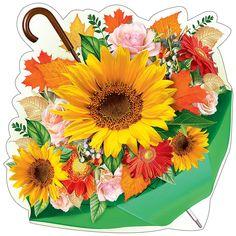 Flower Clipart, Decoupage, Clip Art, Scrapbook, Fall, Flowers, Cards, Sunflower Drawing, Embellishments