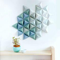 оригами декор стены 06