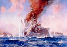 Battle of of the Falkland Islands 8th December 1914  by E.S. Hodgson http://www.britishbattles.com/battle-of-the-falkland-islands/