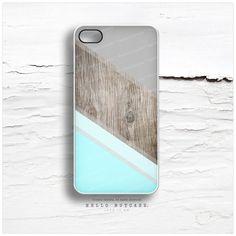 Mint iPhone 5C Case Wood Print iPhone 5s Case par HelloNutcase