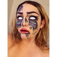 Popart zombie makeup