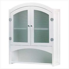Buy Bathroom Wall Cabinet at wholesale prices. We offer a large selection of cheap Wholesale Bathroom Decor. If you need Bathroom Wall Cabinet in bulk at a discount price then buy from WholesaleMart. Wall Mounted Bathroom Cabinets, Wooden Bathroom, Glass Cabinet Doors, Bathroom Furniture, Glass Doors, Bathroom Ideas, White Bathroom, Bathroom Inspiration, Glass Bathroom