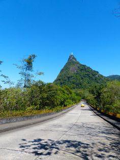 Road up to Christ the Redeemer Statue on Corcovado Mountain , Rio de Janeiro, Brazil