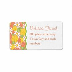 Daisies and Peach Blossoms Labels by trennea http://www.zazzle.com/daisies_and_peach_blossoms_label-106654011268913952 #zazzle