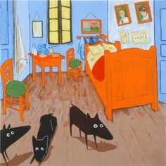 Yapping van Gogh...the 'yapping' paintings of this artist always make me smilen:). I love his dogs!
