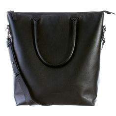 Cuir Laptop Tote Black - Everest - Daame