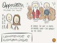Opposition follows truth. #sketchnotes from #ElderCorbridge at #ldsconf MadeWithPaper pic.twitter.com/Sfn4R5KVMQ