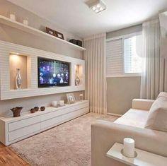 Tv Wall Decor, Living Room, Interior Design, Room Decor, Home, Ideas Part 71