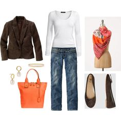 Orange and Brown, created by bluehydrangea.polyvore.com
