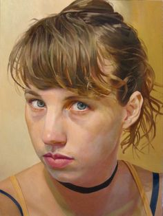 """""""Catherine"""" - Stephen Wright, oil on canvas, 2015 {contemporary figurative art blond female head young woman face painting #loveart} stephenwrightart.com"""
