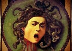Painter Caravaggio -Original was Lost Medusa's Shield has been lost in time but is one of those mysterious Leonardo da Vinci wo. Caravaggio, Michelangelo, Medusa Painting, Monster Prom, Satyr, John The Baptist, Mark Rothko, Bright Stars, What Is Tumblr