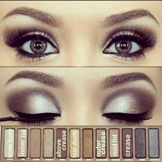 "Another gorgeous eye created with the Urban Decay ""Naked"" eye palette. I'd like to try it with my Mary Kay colors like Crystalline, Moonstone, Granite, Silver Satin, Black Pearl..."