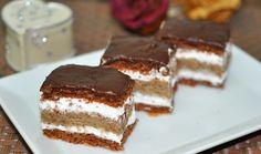 Ez nekem is tutira a kedvenceim közé kerülne! Hungarian Desserts, Hungarian Recipes, Hungarian Food, Sweet Recipes, Cake Recipes, Dessert Recipes, Sweet Cookies, Cake Bars, Sweet And Salty