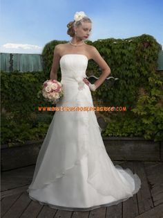 Belle robe de mariée bustier satin organza