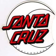 Santa Cruz Moon Logo Sticker