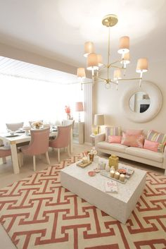 pink living room classic and chic!!