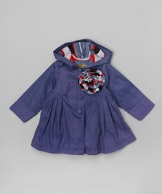 This Maria Elena Denim Jacket & Flower Clip - Toddler & Girls by Maria Elena is perfect! #zulilyfinds