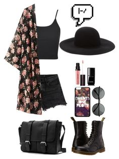 """::Floral Twenty One Pilots::"" by cottoncandyprince ❤ liked on Polyvore featuring Topshop, Alexander Wang, Dr. Martens, Laura Mercier, Chanel, Forever 21, floral, forever21, twentyonepilots and docmartins"