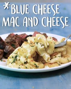 Blue Cheese Mac and Cheese Blue Cheese Mac and Cheese Phyllis DeMatteo VEGGIES Only if you re SERIOUS about your mac and cheese Blue nbsp hellip Blue Cheese Pasta Sauce, Cheese Sauce For Steak, Mac And Cheese, Blue Cheese Recipes, Macaroni Cheese Recipes, Sauce For Broccoli, Cooking Recipes, Healthy Recipes, Healthy Food