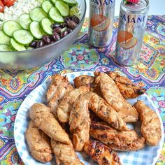 The BEST Chicken Marinade over a Greek Salad--perfect for a family dinner. This healthy chicken marinade is full of flavor and will NOT disappoint! Overnight Chicken Marinade, Marinated Chicken Recipes, Chicken Marinade Recipes, Chicken Marinades, Meat Recipes, Summer Grilling Recipes, Healthy Grilling, Dinner Healthy, Grilled Meat