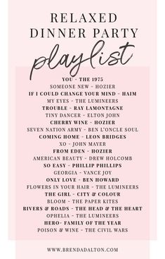 Spotify playlist chock full of chill music for su… Relaxed Dinner Party Playlist. Spotify playlist chock full of chill music for su…,Lieder Relaxed Dinner Party Playlist. Party Playlist, Song Playlist, Summer Playlist, Road Trip Playlist, Dj Songs, Mood Songs, Best Spotify Playlists, Running Playlists, Running Songs