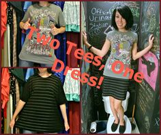 Two Tees, One Dress! | | ReFashionista