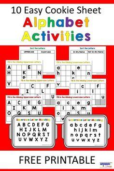 Alphabet Kindergarten, Kindergarten Centers, Preschool Letters, Learning Letters, Kindergarten Reading, Preschool Learning, Letter Recognition Kindergarten, Letter Sorting, Kindergarten Language Arts