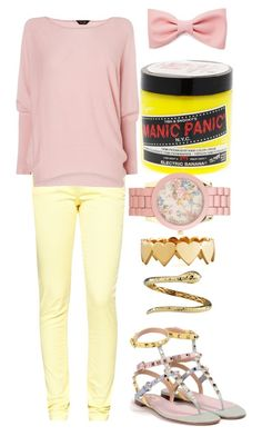 """""""Tagged"""" by redclayfaerie ❤ liked on Polyvore featuring Great Plains, Valentino, Forever 21, Manic Panic, Aéropostale, Jennifer Zeuner, Roberto Coin and Phase Eight"""