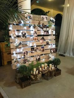 Bridal Shower Decorations 178947785182279184 - wedding photo display wood pallet backdrop Source by dellems Winter Wedding Decorations, Bridal Shower Decorations, Winter Weddings, Whimsical Wedding Decor, Winter Wedding Ideas, 21st Decorations, Engagement Party Decorations, Reception Decorations, Pallet Wedding
