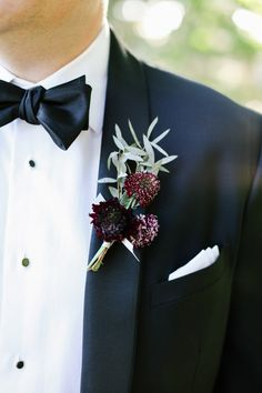 Burgundy Boutonniere | photography by http://jacquelynnphoto.com/