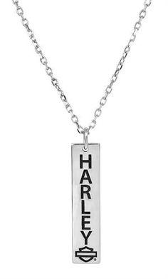 Harley-Davidson Necklace~ Love this! Harley Davidson Gear, Harley Davidson Jewelry, Harley Gear, Harley Davidson Motorcycles, Lady Biker, Biker Girl, Motorcycle Wear, Biker Chick, Biker Style