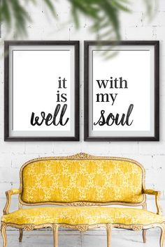 It Is Well With My Soul Sign | Free printables Signs | Home decor inspirational signs | oversized prints via @moritzdesigns