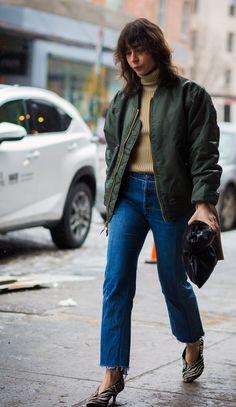 #IrinaLakicevic #StreetStyle #Bomber #Jacket #Style #Outfit